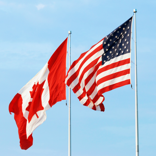 Flags of USA & Canada