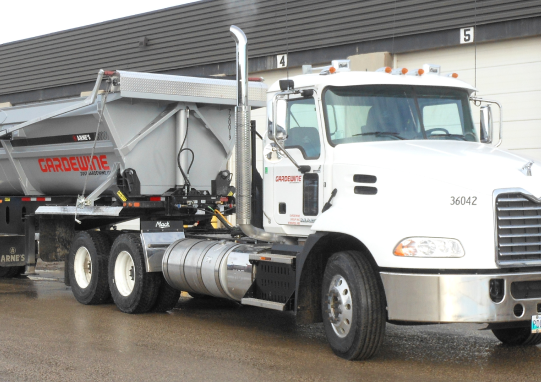 White Colored Gradewine's Truck for Handling and TransportingBulk Commodities