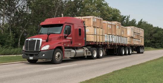 Loaded Truck of Gradewine - General Freight (LTL)